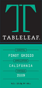 tableleaf pinot grigio label